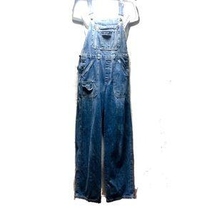 Denim - Women's distresse Denim Overalls  Size M